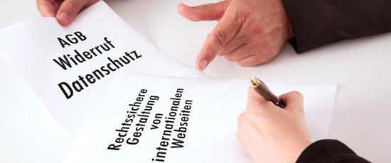 Rechtssichere Gestaltung von internationalen Webseiten